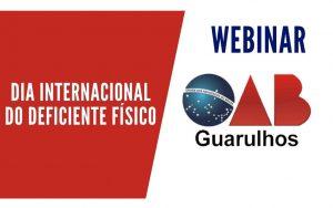 """Read more about the article Transmissão da webinar sobre o tema: """"Dia Internacional do Deficiente Físico"""""""