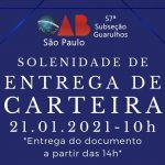 21/01 – I Solenidade de Entrega de Carteiras de 2021