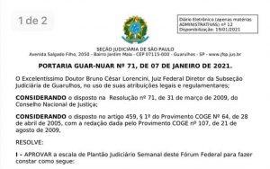 Plantão Judiciário Semanal