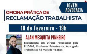 """OAB Guarulhos, por meio da Comissão da Jovem Advocacia, realizou a oficina prática online, sobre o tema: """"Reclamação Trabalhista"""""""
