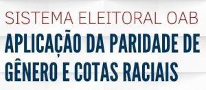 """A OAB Guarulhos, por meio da Comissão da Igualdade Racial, realizou a webinar sobre o tema: """"Sistema Eleitoral OAB: Aplicação da paridade de gênero e cotas raciais"""""""