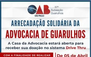 Arrecadação Solidária da Advocacia de Guarulhos
