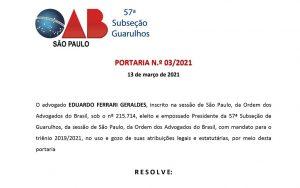 FUNCIONAMENTO DOS ESCRITÓRIOS DE ADVOCACIA DURANTE A FASE EMERGENCIAL DO PLANO SÃO PAULO