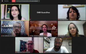 """OAB Guarulhos, por meio da Comissão de Direito e Liberdade Religiosa, realizou a webinar sobre o tema: """"A violência contra a mulher no ambiente religioso – dualidade entre a fé e dominação"""""""