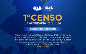 OAB SP realiza 1º Censo da Advocacia Paulista!