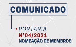 Portaria 04/2021 – Nomeação de Membros
