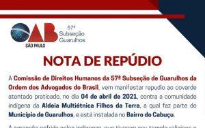 NOTA DE REPÚDIO – Comissão de Direitos Humanos