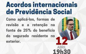 """A OAB Guarulhos por meio da Comissão da Seguridade Social, realizou a webinar sobre o tema: """"Acordos Internacionais de Direito Previdenciário"""""""