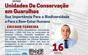 """Transmissão da webinar sobre o tema: """"Unidades de Conservação em Guarulhos – Sua Importância para a biodiversidade e para o bem estar humano"""""""