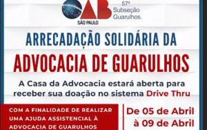 Arrecadação solidária da Advocacia Guarulhense