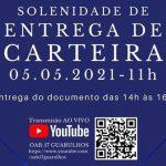 05/05 – Solenidade de Entrega de Carteiras