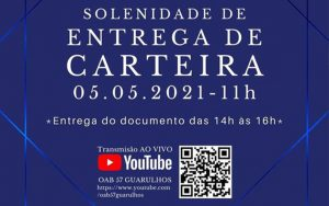 Transmissão da III Solenidade de Entrega de Carteiras Virtual de 2021