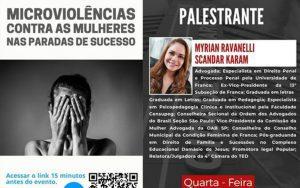 Read more about the article 26/05 – Microviolências Contra as Mulheres nas Paradas de Sucesso