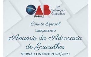 Read more about the article Transmissão do Lançamento do Anuário da Advocacia 2020/2021 – Edição on-line
