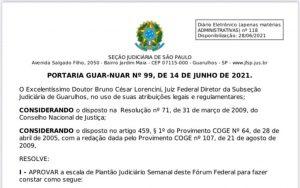 Read more about the article Plantão Judiciário Semanal
