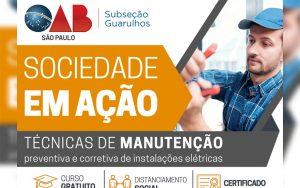 Read more about the article Projeto Sociedade em Ação – Inscrições para o Curso de Técnicas de Manutenção Preventiva e Corretiva de Instalações Elétricas