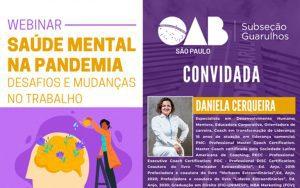 Read more about the article 29/09 – Saúde Mental na Pandemia – Desafios e Mudanças no Trabalho