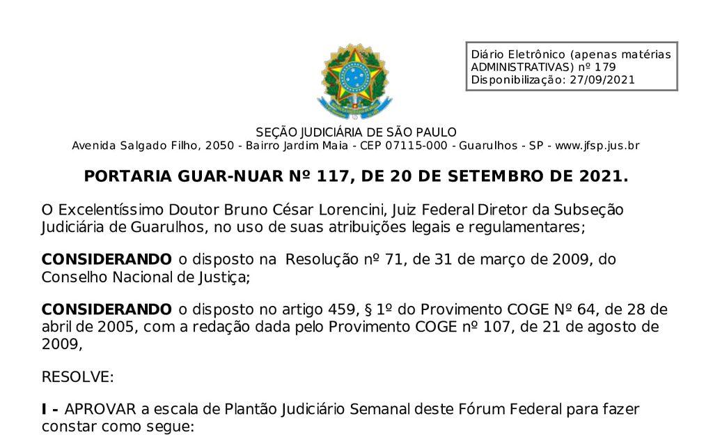 You are currently viewing Plantão Judiciário Semanal